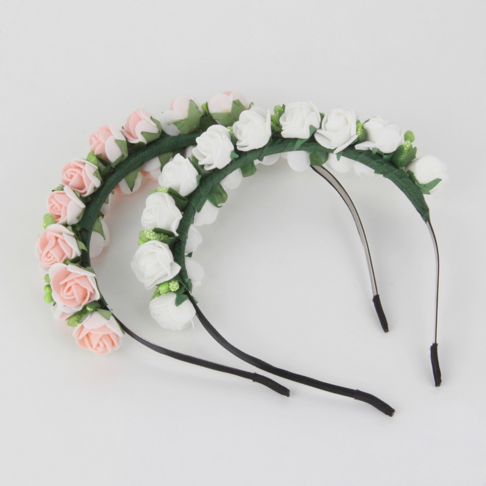 Fashion Stylish Hot Sale Flower Garland Floral Bridal Headband Hairband Wedding Prom flower headband Hair Accessories for gift(China (Mainland))