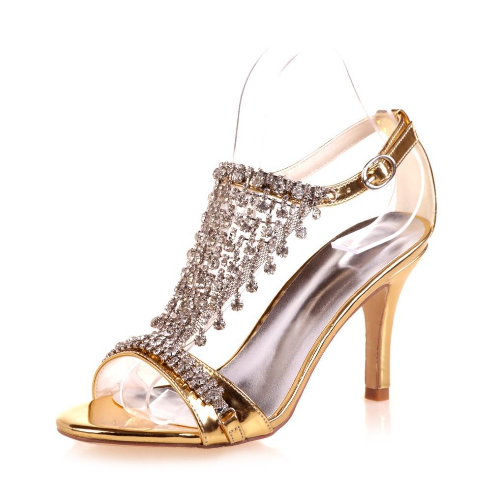 Silver Diamond High Heels