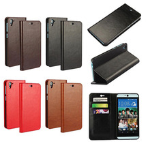 For HTC 826 / HTC Desire 826 Flip Case Cover Luxury Crazy Horse Real Genuine Leather Folio Wallet Phone Cases