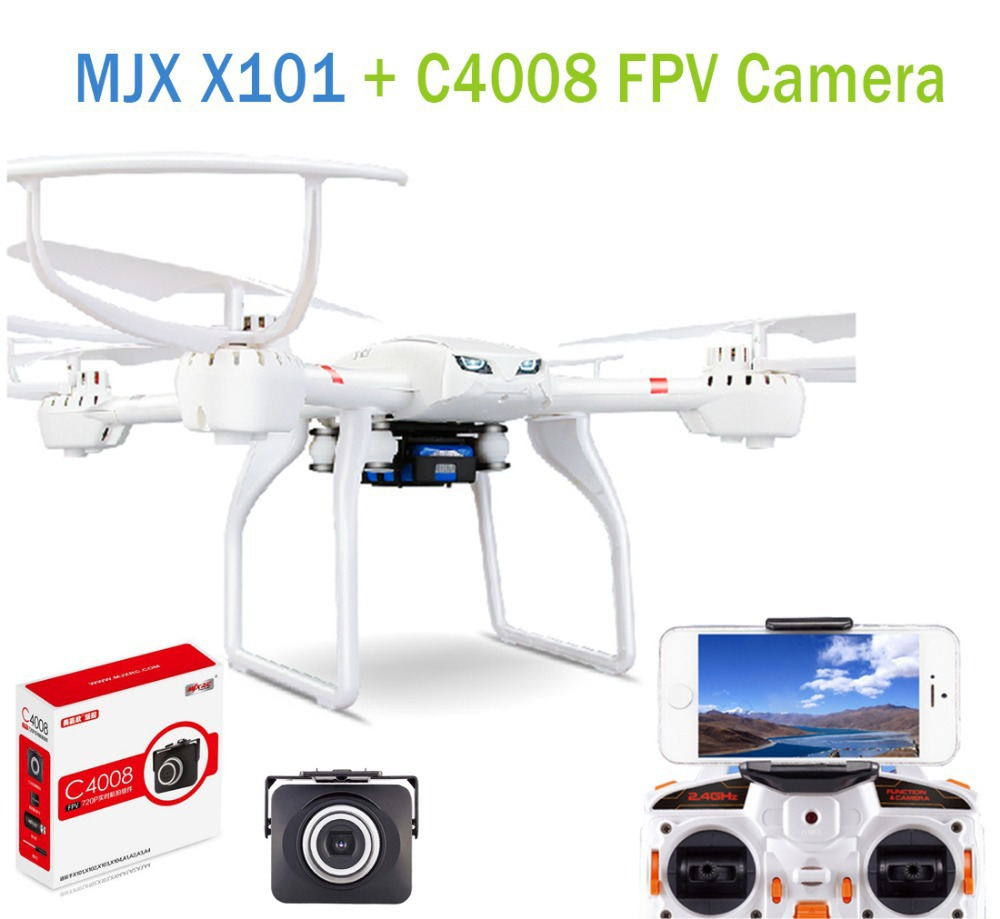F15800/01-B MJX X101 2.4G RC Drone 6 Axis Gyro Supper Large Quadcopter UAV With Gimbal + MJX C4008 1.0mp FPV HD Real Time Camera(China (Mainland))