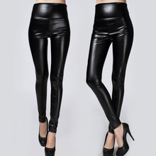 2016 New Winter Thickened Leggings Skinny Pants Women Black Leather Warm Pants waist high trousers High Quality Big Size(China (Mainland))