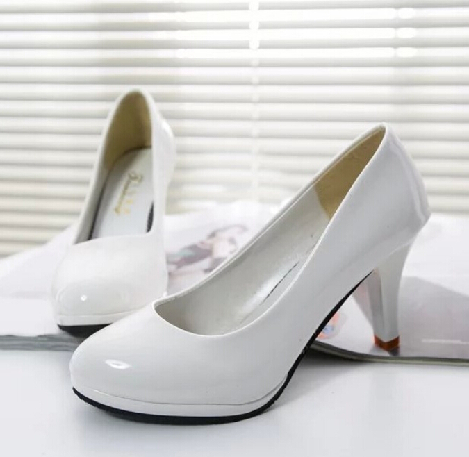 new big shoes bridal wedding shoes white and black