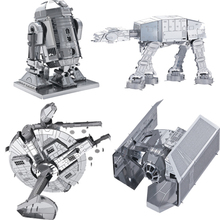 Star Wars brinquedos para as crian Puzzle toys 2015 New Russia metal earth 3D Nano metal DIY  Puzzle brain  juguetes educativos