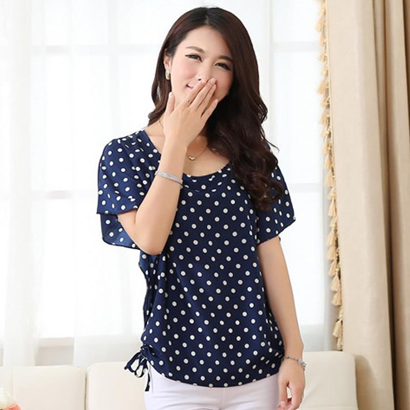 HD wallpapers plus size navy polka dot blouse