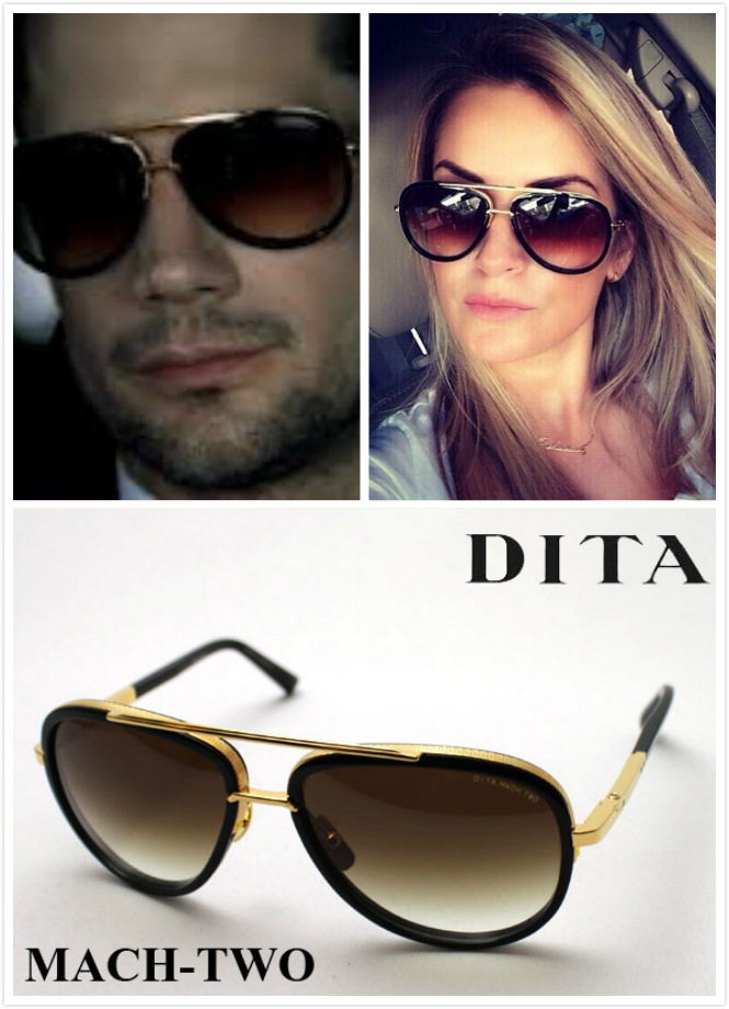 156fee04cf DITA MACH TWO 18K Gold Black Polarized Sunglasses Mirror Dita ...