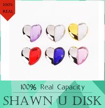 2016 новый горячая распродажа сердца флешку 512 ГБ USB флэш-диск 128 ГБ подарок кристалл алмаза привода 4 ГБ 8 ГБ 16 ГБ 32 ГБ 64 ГБ USB2.0