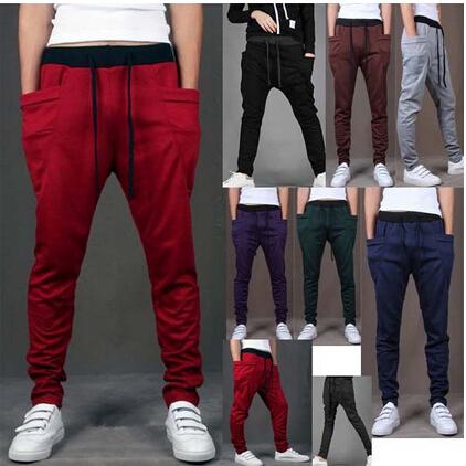 2015 Brand New Fashion Brand Sweatpants Trousers Men Harem Pants Sport Pants, Men'S Big Pocket Design Man Cargo Joggers M ~ XXL(China (Mainland))