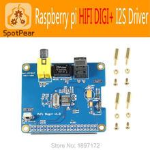 Raspberry pi Pi 3 model B HIFI DIGI+ Audio Sound Card Module I2S interface,The latest version,For Pi3/Pi2 - SpotPear store