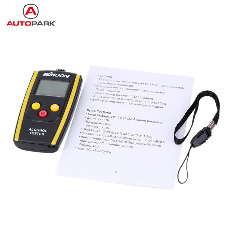 Brand New KKmoon Portable Digital Alcohol Tester Meter Alcohol Content Detector High Sensitivity Breathalyzer(China (Mainland))