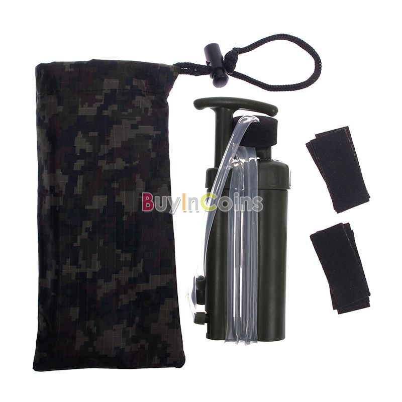 Outdoor Portable Soldier Hiking Camping Fishing Hunting Water Filter Purifier US AS #53123(China (Mainland))