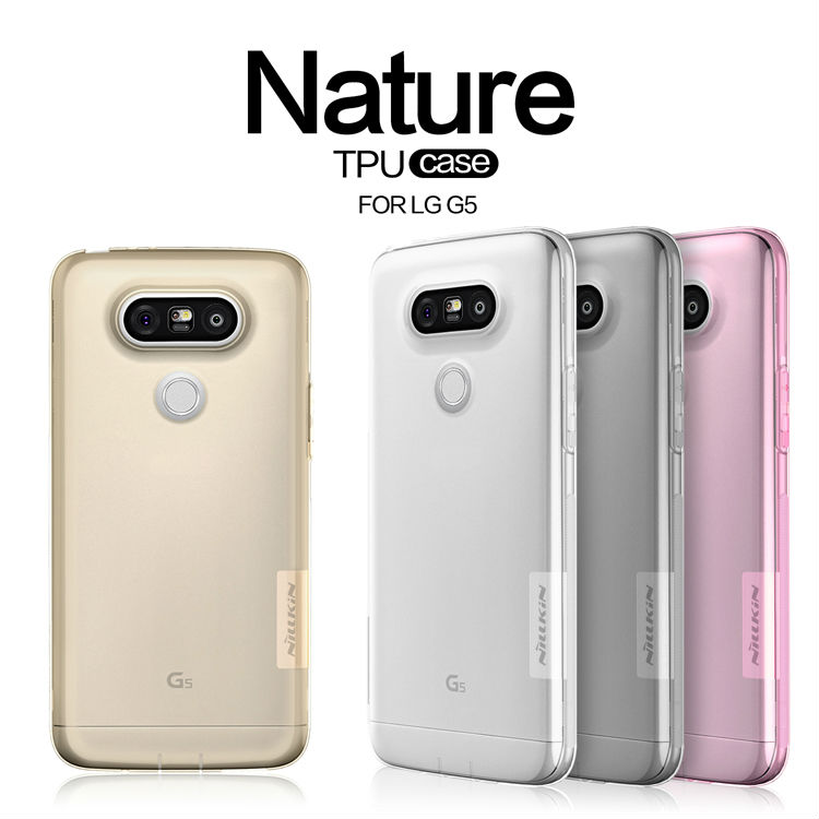 NILLKIN Ultra Thin Transparent Nature TPU Case For LG G5 Silicon case Clear TPU Soft Back cover For LG G5 with Retail package(China (Mainland))
