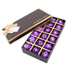 UXCELL 18 Шт. Подарок На День Рождения Фиолетовый Декор Rose Bud Лепесток Мыло Свадьбы Пользу(China (Mainland))