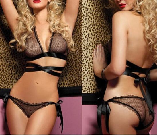 Lace Sexy Women Lingerie Bra G-String Nightwear Knickers Underwear Sleepwear Set fashion online shop(China (Mainland))