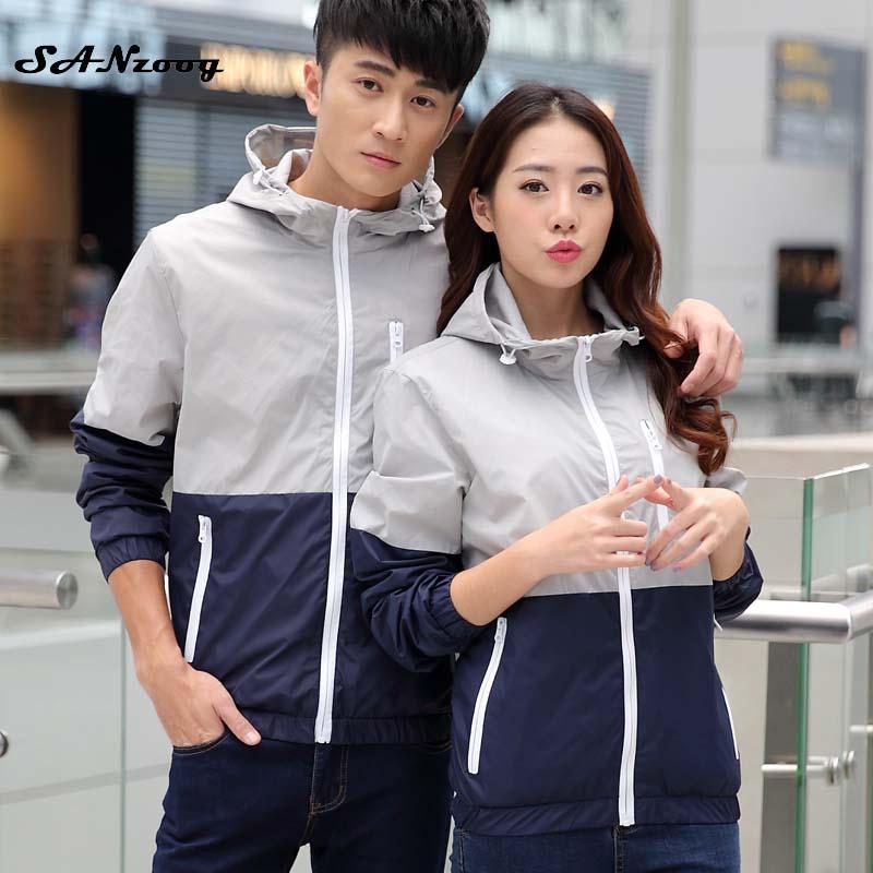 High Quality Men Light Jacket Hoodie Coats 2017 Stylish Fashion Men Women Causal Hooded Thin Windbreaker Zipper Coats Outwear(China (Mainland))