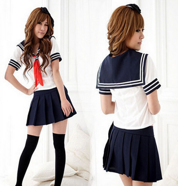 Sexy Japan Adult School Girl Cosplay Halloween Costume Women Fancy Dress Uniform(China (Mainland))