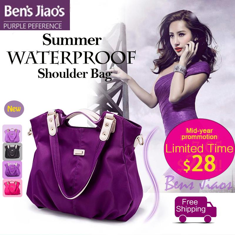 Bens Jiaos new purple ladies ruched bags korean waterproof bolsos mujer high quality fashion tote designer shoulder bag handbags(China (Mainland))