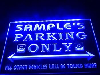 DZ045- Name Personalized Custom Car Parking Only Bar Beer LED Neon Light Sign