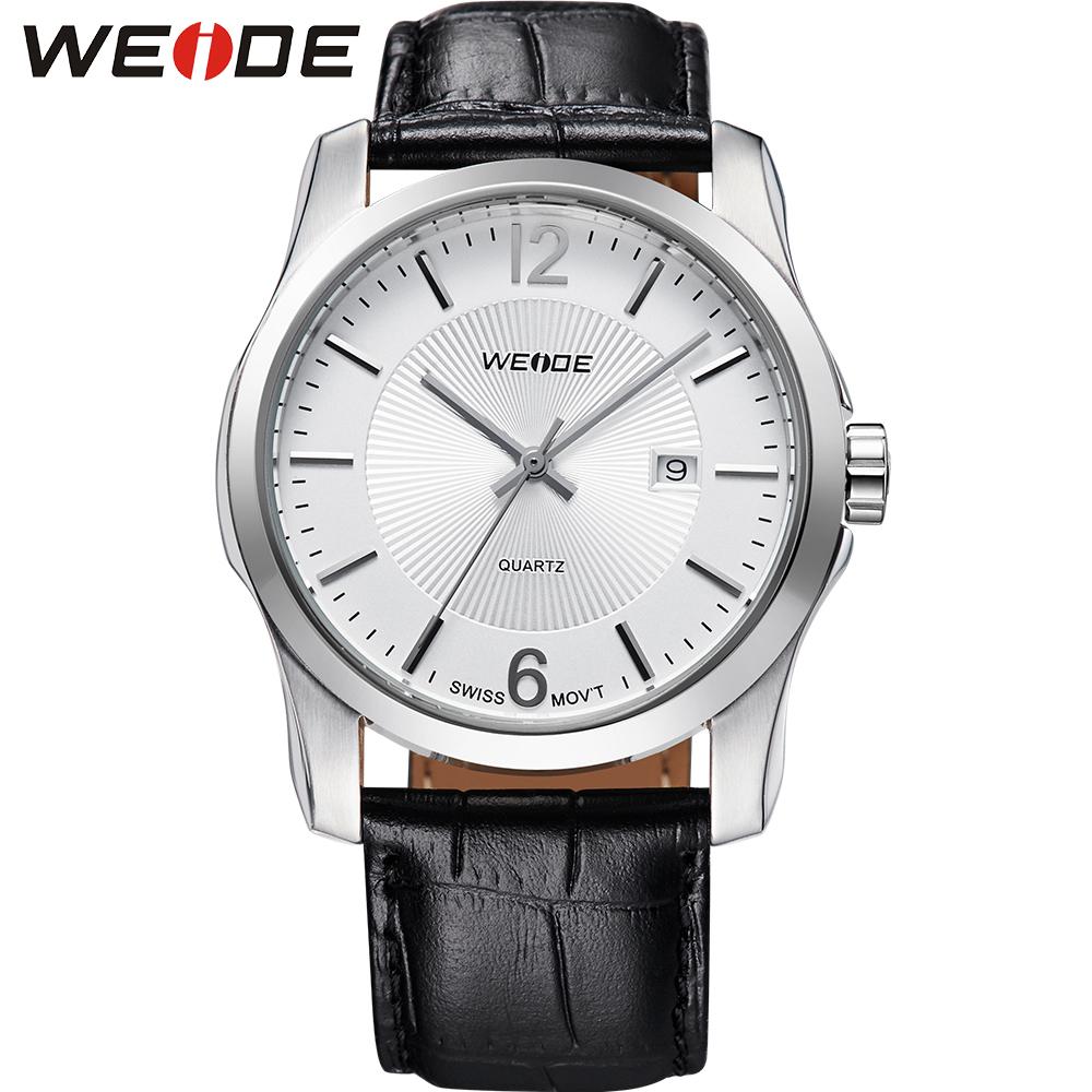 2013 WEIDE Swiss Ronda Quartz Watch Solid Stainless Steel  Genuine Leather Strap Luxury &amp; Elegant  Dress 30 Meters Wapterproofed<br><br>Aliexpress