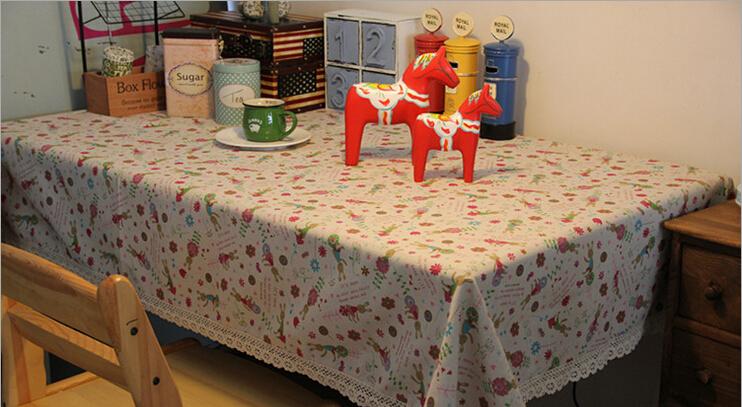 140CM*180CM Tablecloth For Home Linen Multi-function Cloths Cartoon Style Cartoon Rabbit Table Cloth Party Tablecloths Wholesale(China (Mainland))