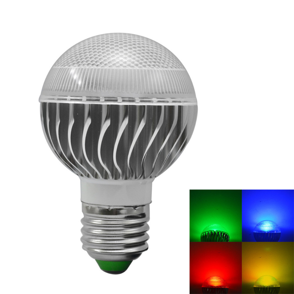 3w 240lm Led Dimmable Rgb Smart Bulb Light W Remote Controller Ac 85 265v Jpg