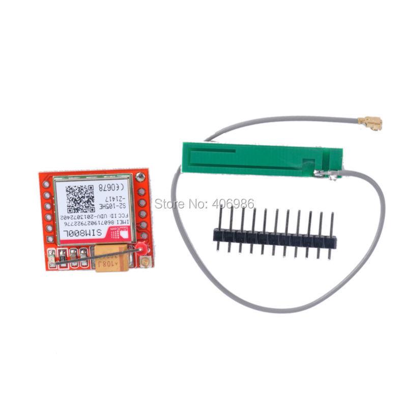 Smallest SIM800L GPRS GSM Module MicroSIM Card Core Board Quad-band TTL Serial Port FZ1332(China (Mainland))