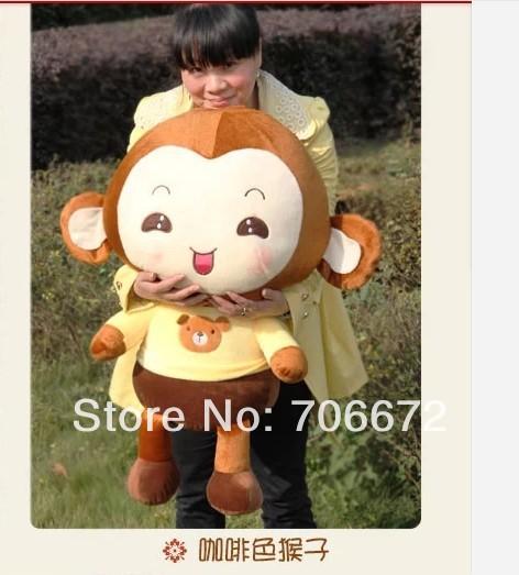 stuffed animal lovely monkey PP cotton large 60cm monkey plush toy about 23 inch monkey doll gift t696(China (Mainland))