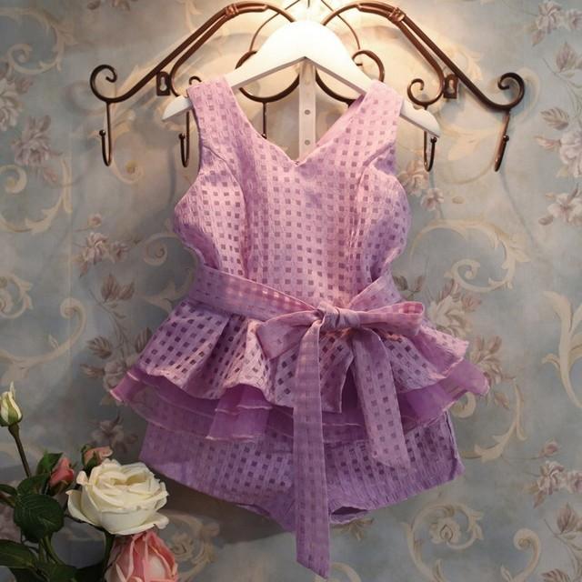 Бесплатная доставка розничные новые 2015 девочек одежда летняя мода детские жилеты ...