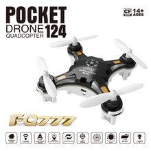 Free Shipping FQ777-124 Pocket Drone 4CH 6Axis Gyro Quadcopter With Switchable Controller RTF Helicopter Toys(China (Mainland))