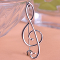 Simple Music Note Brooches 18K Gold Plated Metal Brooch Special Scarf Suit Clips Hijab Pin Up