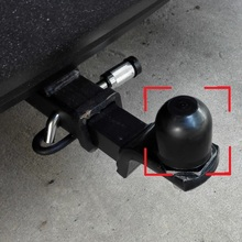 """ABS 2"""" 50mm Trailer Ball Protection Cap 2pcs/lot HitchBall Cover Tow-Ball Cap Trailer Protection Ball Cover(China (Mainland))"""