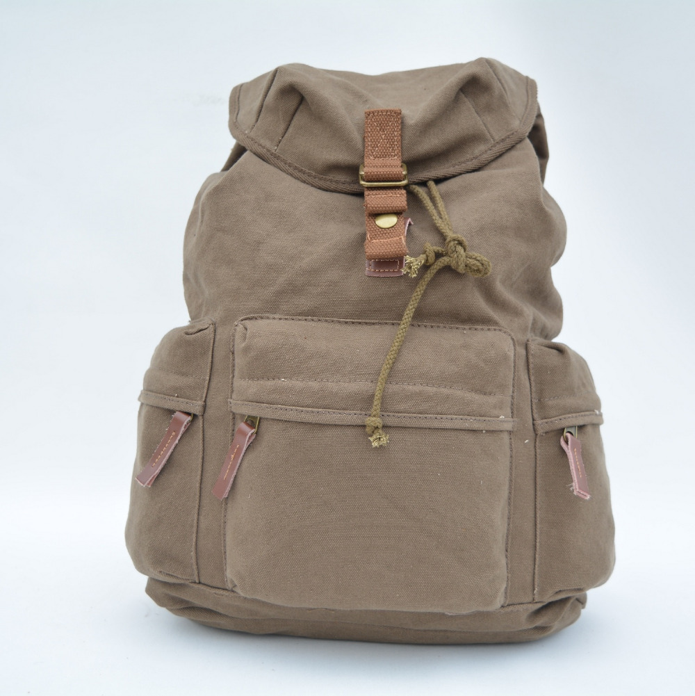 Washed Canvas Backpack String Outdoor Mountain Cotton Travel Bag Leather Camping Rucksack Men Women Backpacks with camera box<br><br>Aliexpress