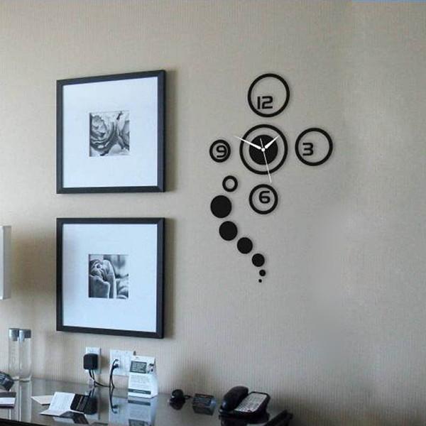 [해외]MODEN 거울 유행 DIY 3D 벽 시계 간단한 브랜드 홈 인테리..