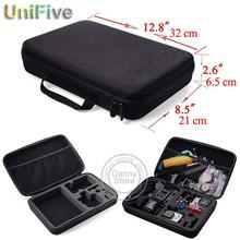 Large ! Go Pro XiaoMi Yi Sjcam Carry Case Collection Box Shockproof Protective EVA Camera Bag For GoPro Video Hero 4 3+ 3 Sj4000