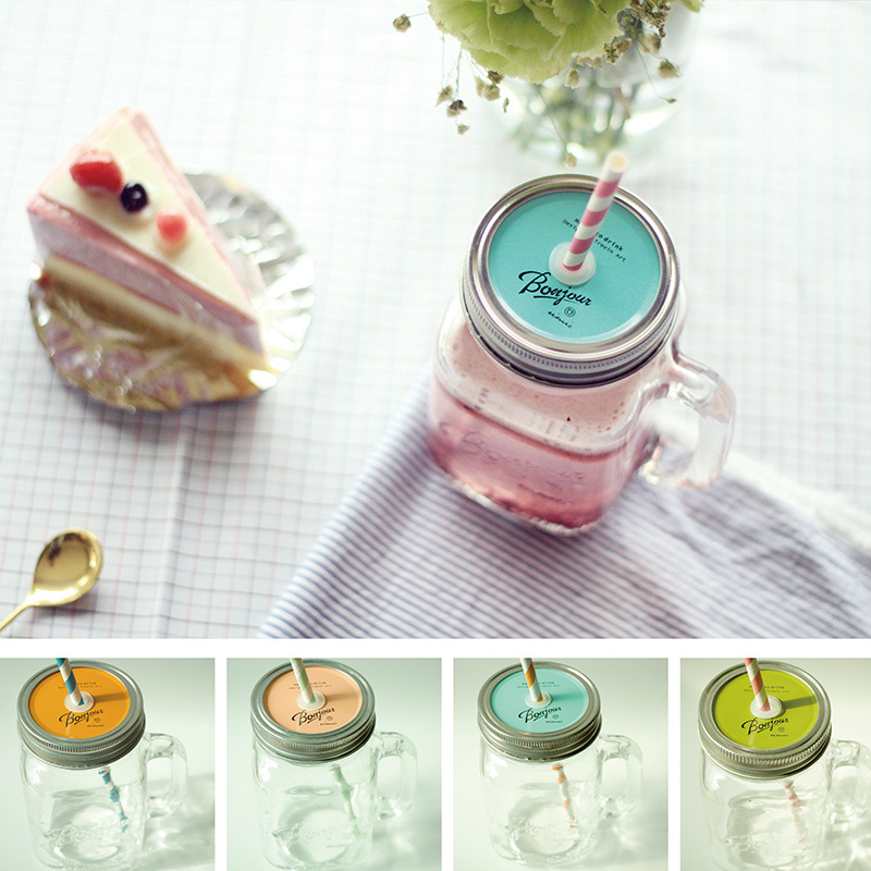 Summer Ice cream Fruit Installed Cold Drink Infusion Bottle To Drink Cute Water Bottles Mason Jar Mug Jarras Home Camping use(China (Mainland))