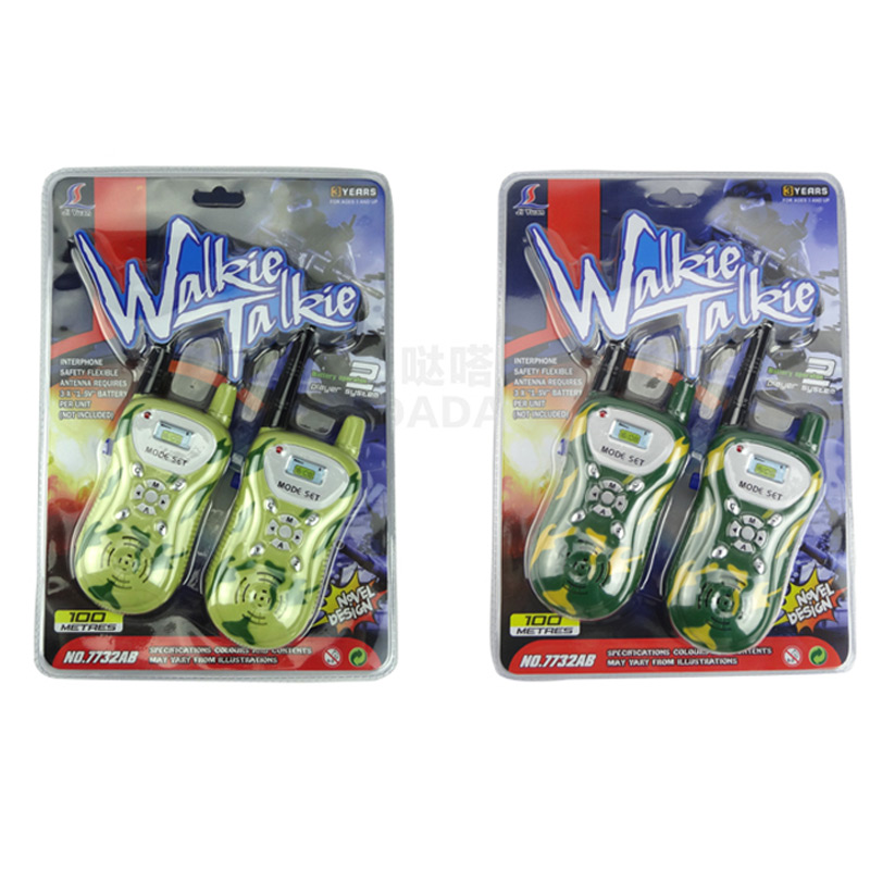 2016 New 2pcs/lot 0.5W Interphone Children Game Intercom Electronic Toy Walkie Talkies Come With Retail Box Kid Christmas Gifts(China (Mainland))