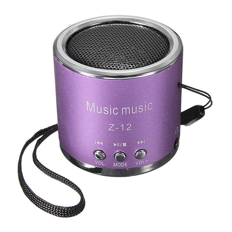Z12 Red Mini Portable Cylinder Speaker Amplifier FM Music Radio Sound HIFI Support USB Micro Line in for SD TF Card MP3 Player(China (Mainland))