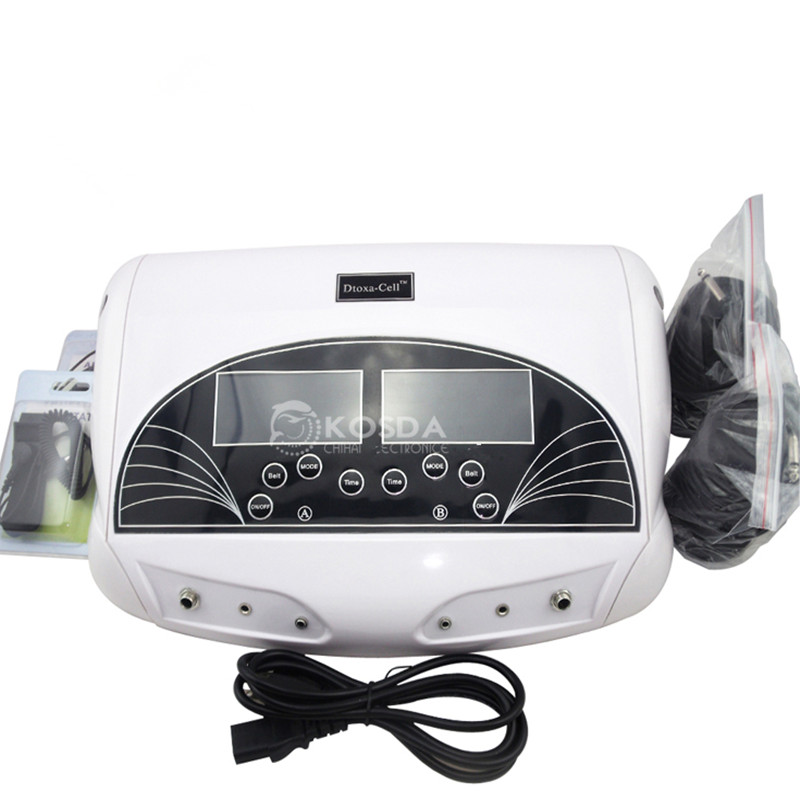 Health Care Ionic Foot Bath Detox Machine Dual Desintoxicador Machine Ion Cleanse Spa With Big LCD Display Sreen And Music/Belt(China (Mainland))