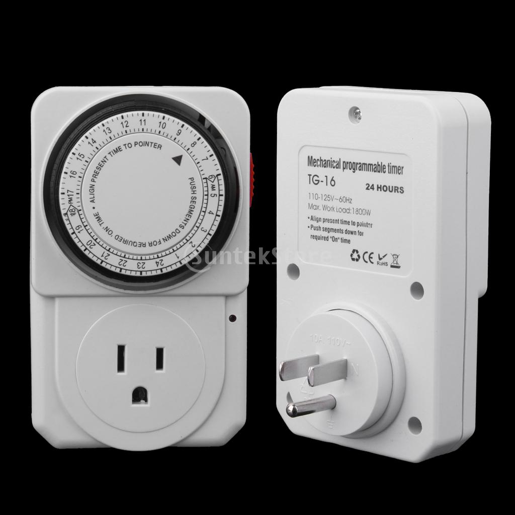 24-Hour Electrical Plug Program Timer Power Switch Energy Saver US Plug(China (Mainland))