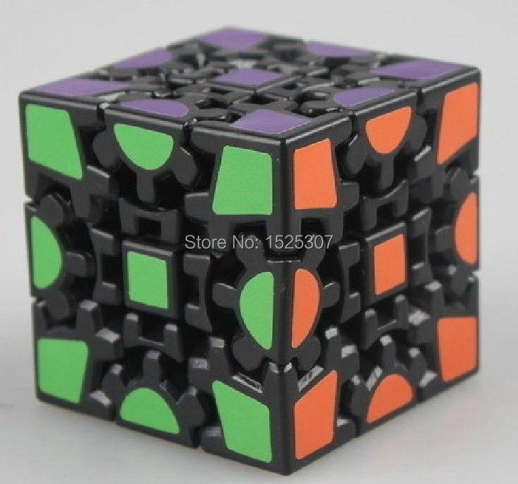 Free Shipping 2014 Brand New Kuaishouzhi 3-layer Gear Cube V1 Cool Toy Speed Puzzles Black Version(China (Mainland))