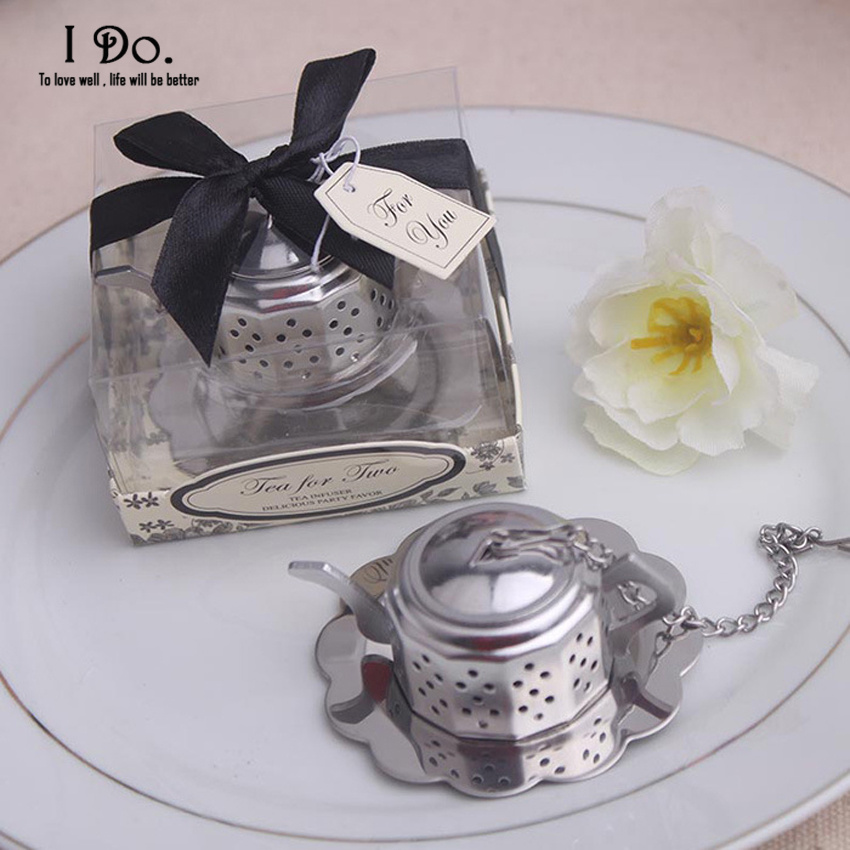 Free Shipping Teapot Tea Infuser Wedding Favors And Gifts Wedding Gifts For Guests Wedding Souvenirs Event & Party Supplies(China (Mainland))