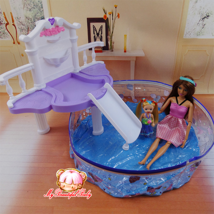 2015 New Summer Swimming Pool For Barbie Doll Fashion