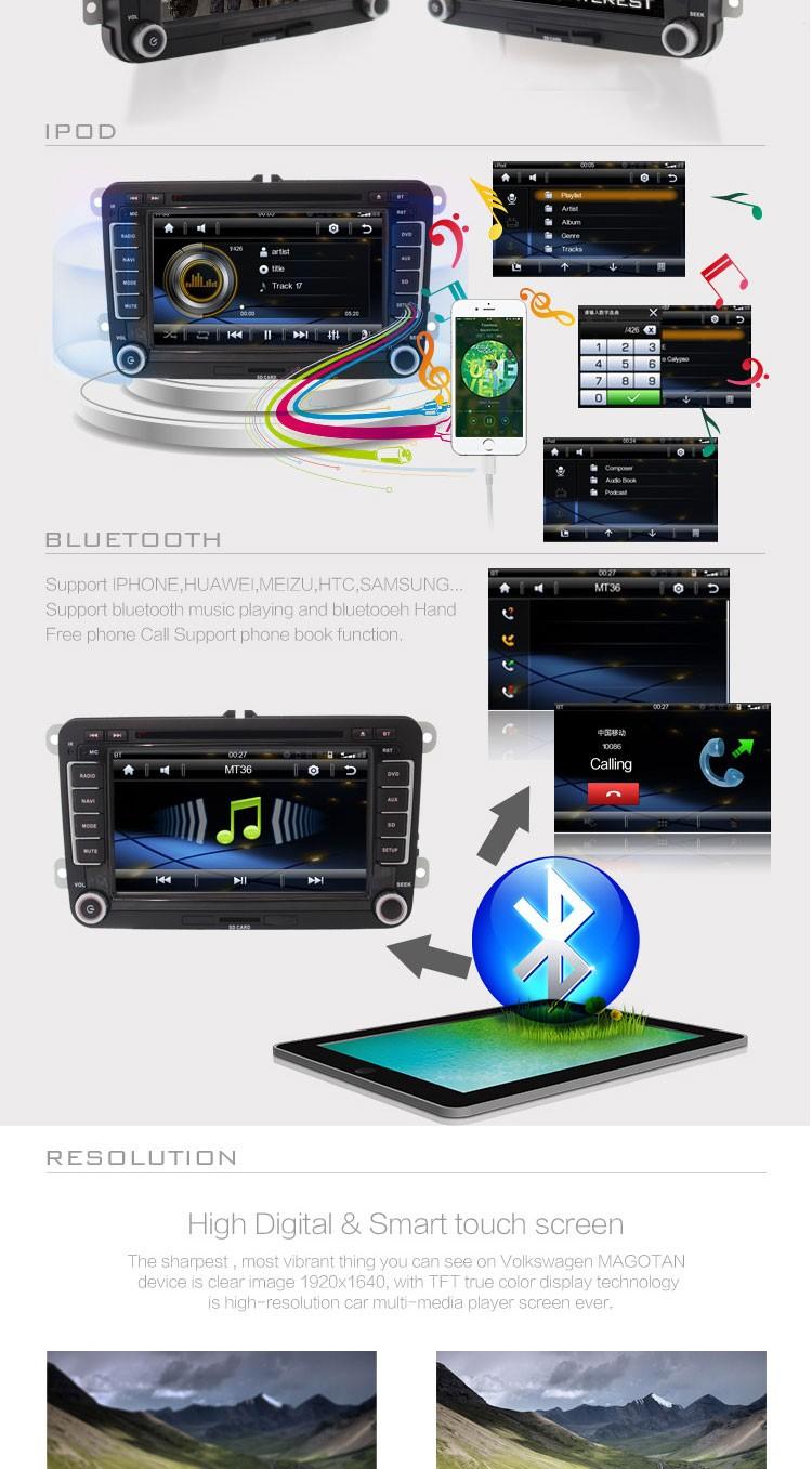 Купить Dvd-плеер автомобиля Gps-навигация Для VW Passat B6 Magotan Jetta Touran ГОЛЬФ Рулевого Колеса Bluetooth RDS Бесплатную карту телефонная книга