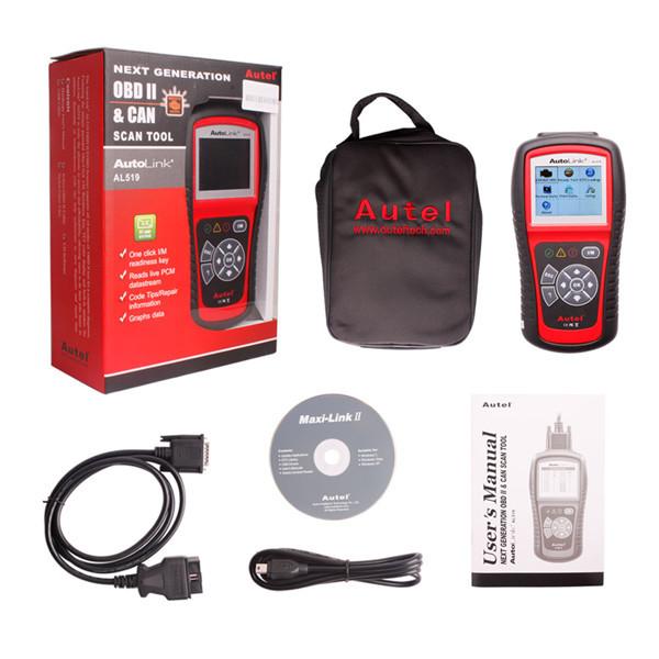 Wholesale New genuine Autel Autolink AL519 scanner Update Online Original Autel AutoLink Code Reader Free Shipping