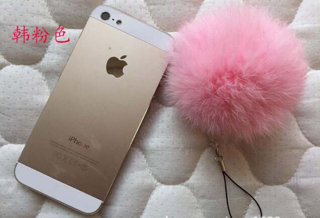 30pcs/lot rabbit fur balls 8cm for beanies hats/key/bags/car ring fur pompoms real rabbit fur ball free shipping(China (Mainland))