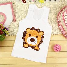 Brand Cotton Kids Clothes Boys Sport Sleeveless T shirt Baby Boy Summer Kid Tee Children T