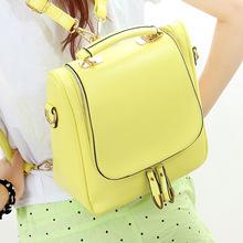 2015 New Korean Female Multifunctional College Bags Girls Cute Backpacks High School College Book Bags Mochila Couro Feminina