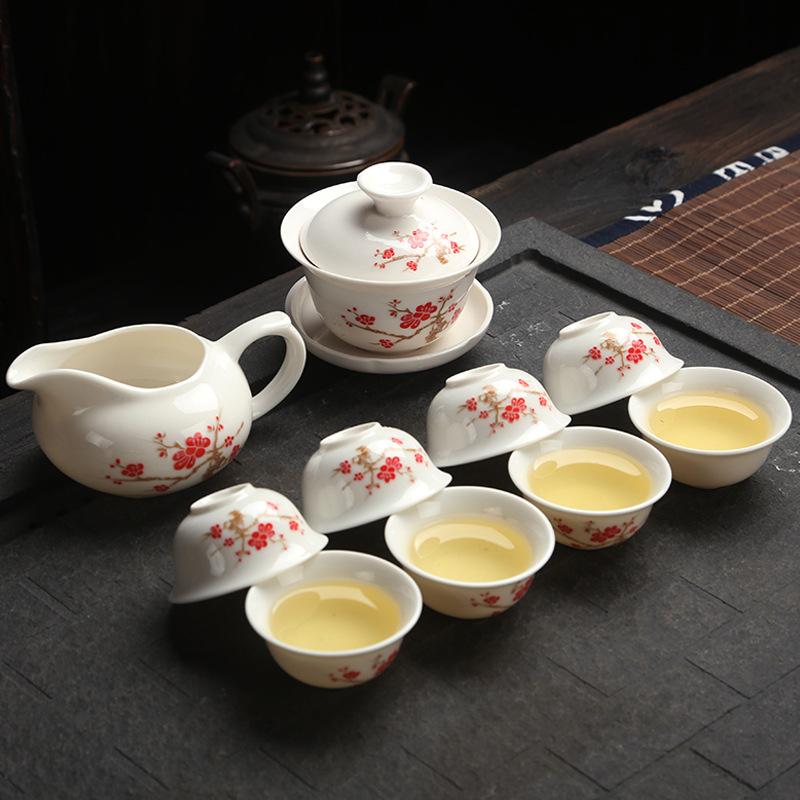 VILEAD Originally from China Travel tea sets blue and white porcelain china tea sets tea tools gift box(China (Mainland))