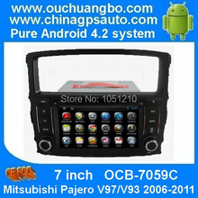 Pure android 4.2 OS DVD GPS navi for Mitsubishi Pajero V97/ V93 2006 -2011 with DVR Cortex car stereo radio OCCB-7059C