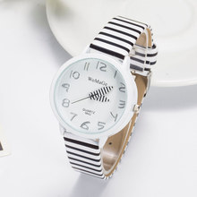Womage Brand Fashion Women Dress Watch Zebra Leather Strap Ladies Quartz Watch Women Wristwatches Watch montre femme(China (Mainland))