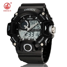 Buy 2017 New OHSEN Men Multifunction Sports Watches Analog Digital LED Dual Core Quartz Casual Wristwatch Dive Swim Military Watch for $12.99 in AliExpress store